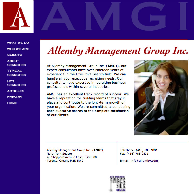AMGI web site screenshot