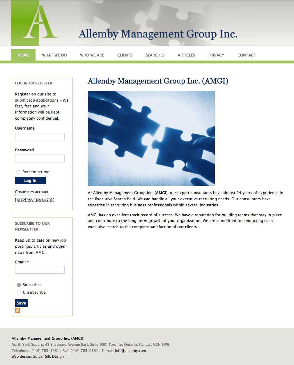 AMGI web site screenshot