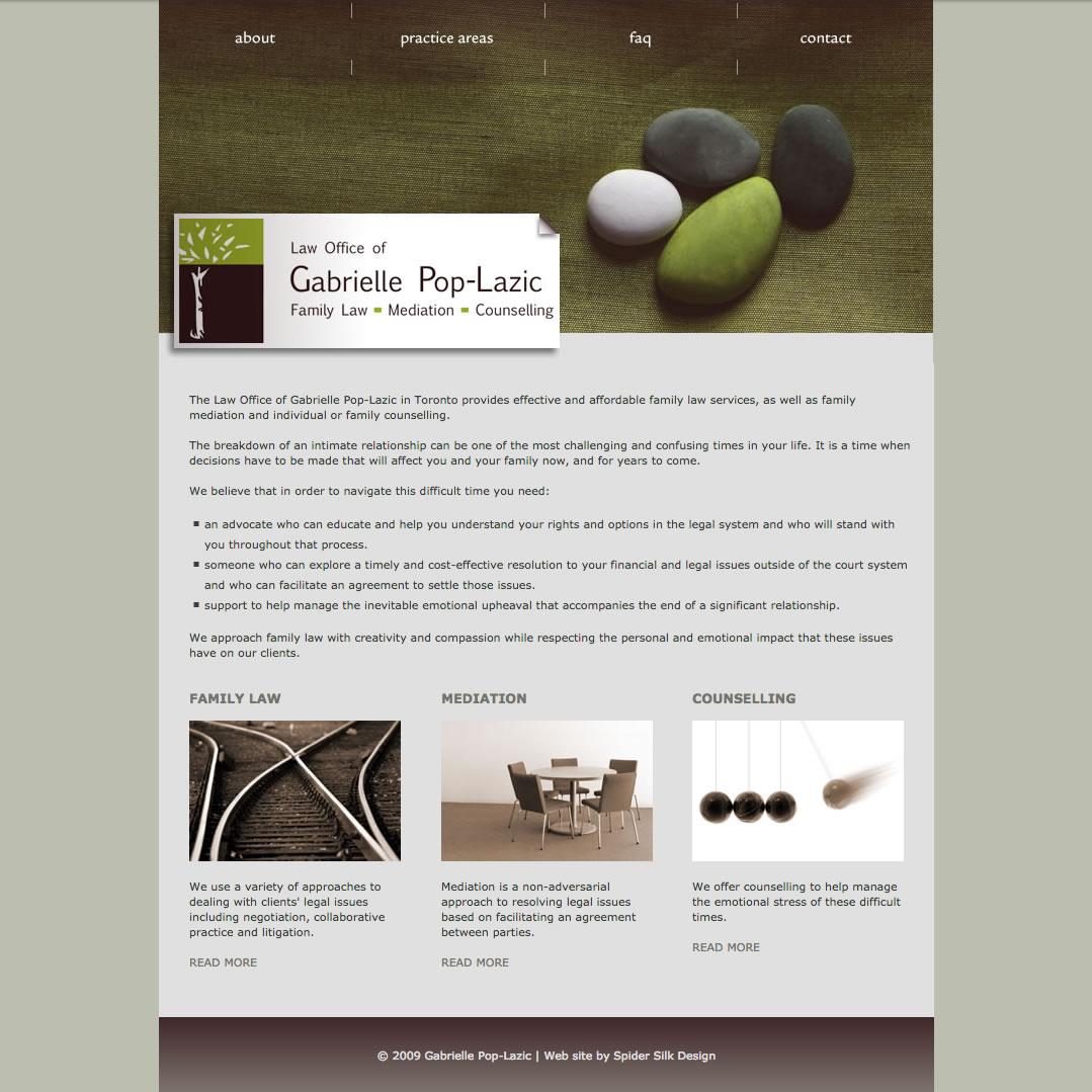 Gabrielle Pop-Lazic web site screenshot