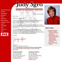 Judy Sgro web site