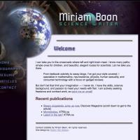 Miriam Boon web site