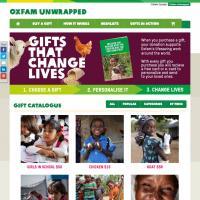 Oxfam Unwrapped web site